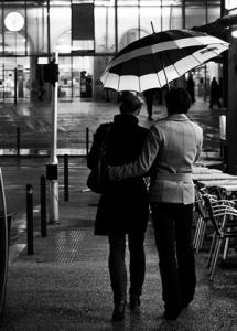 Couple parapluie